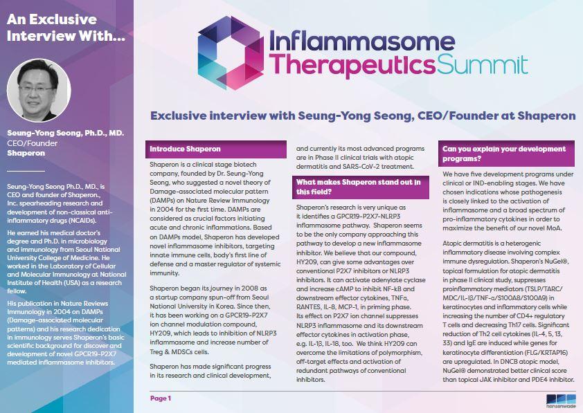 Shaperon Interview - Inflammasome event